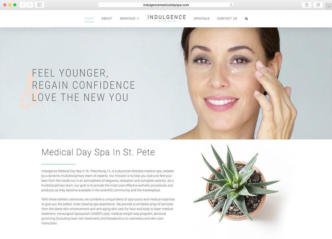 day spa website